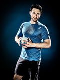Man handball player isolated Stock Images