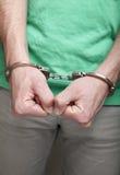 Man handcuffed Royalty Free Stock Photo