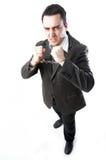 Man in handcuffs. Smart man in hand cuffs Stock Image