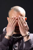 Man with handcuffs Stock Photos