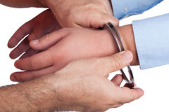 Man in handcuffs Royalty Free Stock Image