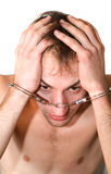 The man in handcuffs. Royalty Free Stock Photography