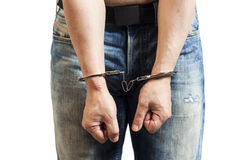 Man in handcuffs arrested Stock Images