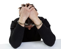 The man in handcuffs Royalty Free Stock Images
