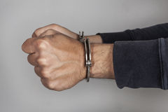 Man with handcuffs Stock Photography