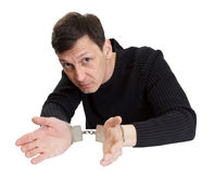 Man in handcuffs stock photos