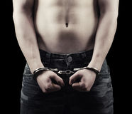 Man in handcuffs Stock Image