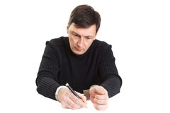 Man in handcuffs Stock Photo