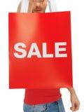 Man handen die het winkelen zak houden Royalty-vrije Stock Afbeelding
