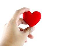 Man handen met hart Royalty-vrije Stock Foto's