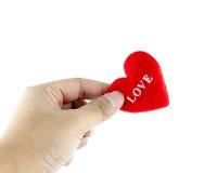 Man handen met hart Stock Fotografie
