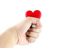 Man handen met hart Royalty-vrije Stock Afbeelding