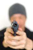 Man with a handgun Royalty Free Stock Photo