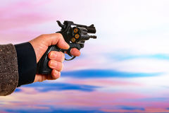 Man with handgun Royalty Free Stock Photography
