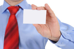 Man handing a blank Royalty Free Stock Images