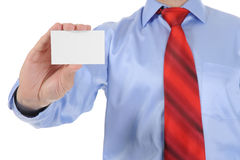 Man handing a blank Stock Images