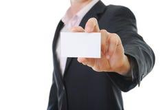 Man handing a blank Stock Photos
