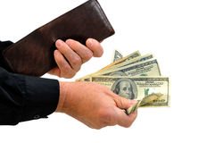 Free Man Handing Money From Wallet Royalty Free Stock Photo - 18246535