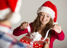 Man handing woman gift Stock Images
