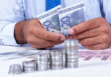 Man handling money Royalty Free Stock Photo