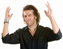 Man with Hands in the Air Royalty Free Stock Photo