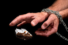Man hands with cigarette Royalty Free Stock Images