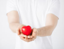 Man hands with heart Royalty Free Stock Photo