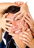 Man with hands on his face Royalty Free Stock Image