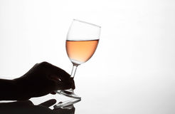 Man hands holding wine glasses Royalty Free Stock Photography