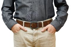 Man with hands in pockets Royalty Free Stock Photos