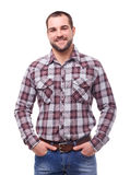 Man with hands in pockets Royalty Free Stock Image