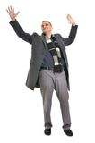 Man with hands up Royalty Free Stock Photos