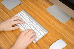 Man hands working Stock Images