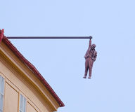 Man Hanging Sculpture Royalty Free Stock Images