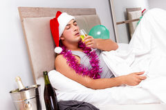 The man with hangover after late partying Stock Photo
