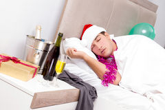 The man with hangover after late partying. Man with hangover after late partying Stock Photography