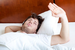 Man with hangover Royalty Free Stock Photo