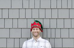 Man happy at Christmas. stock images