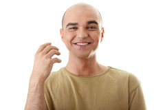 Man with happy facial expression Stock Photography