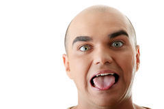 Man with happy facial expression Stock Images