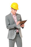 Man in hard hat Stock Photo