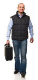 Man with hardcase Stock Photos