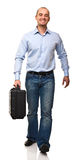Man with hardcase Stock Photography