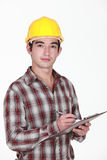 Man in a hardhat Stock Photo