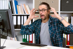 Man has a bad news Stock Image