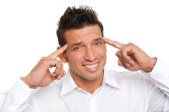 Man has headache Royalty Free Stock Photos