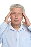 Man has a headache Stock Images