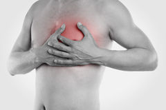 Man has heart pain Stock Photo