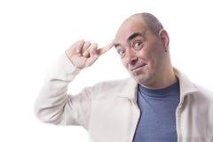 Man has a `idea Stock Image