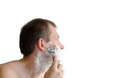 The man has a shave Royalty Free Stock Photography